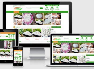 Fullcode website bán bột sắn dây FC289 2