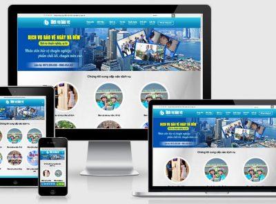 Fullcode website công ty dịch vụ bảo vệ FC291 7