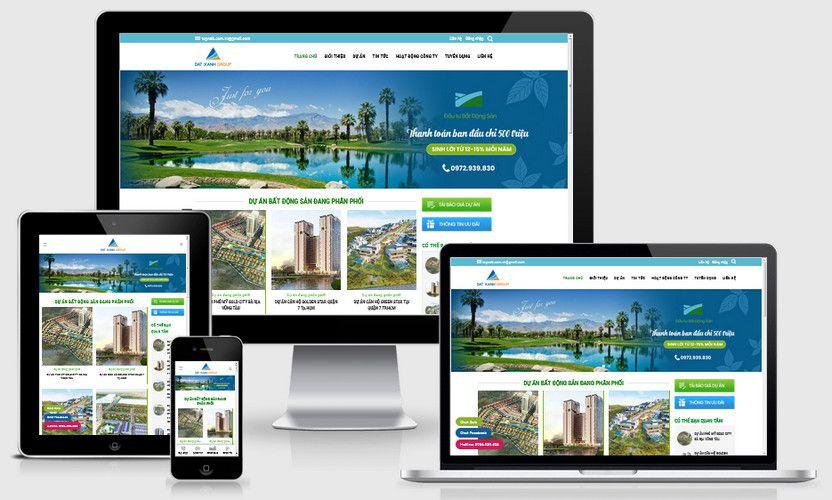 Fullcode website bất động sản căn hộ FC308 1