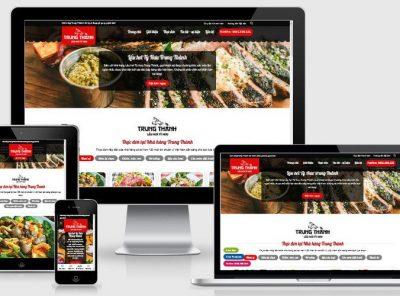 Fullcode website nhà hàng lẩu hơi Trung Thành FC309 1