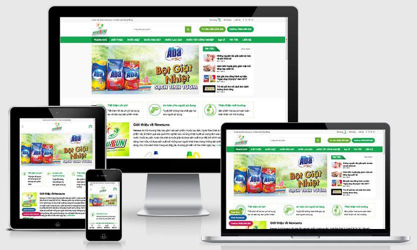 Fullcode website bán nước tẩy rửa bột giặt FC298 1