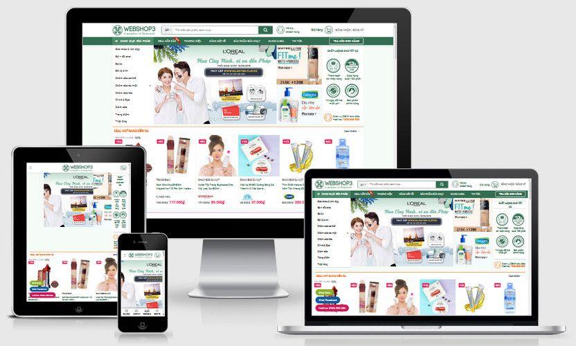 Fullcode website shop mỹ phẩm làm đẹp FC311 1