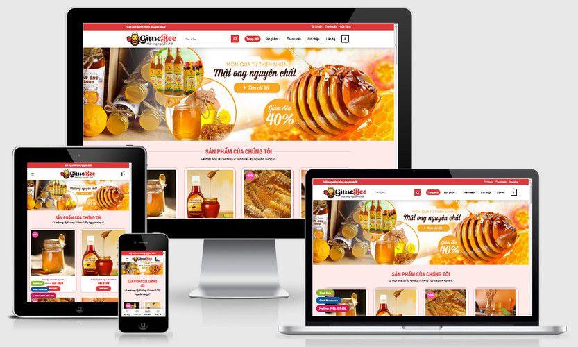 Fullcode website bán mật ong chính hãng FC312 1