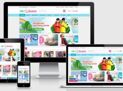 Fullcode website bán hàng thời trang trẻ em FC299 3