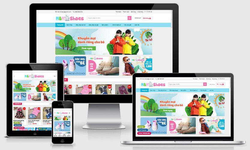 Fullcode website bán hàng thời trang trẻ em FC299 1