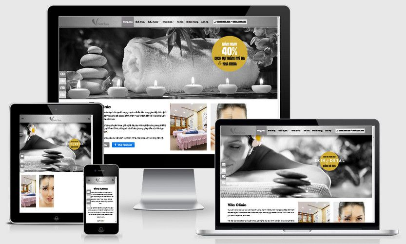 Fullcode website thẩm mỹ viện spa đẹp FC300 1