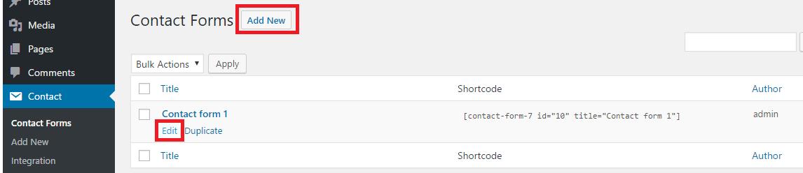 Hướng dẫn sử dụng Plugin Contact Form 7 từ A đến Z 2