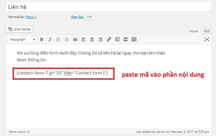 Hướng dẫn sử dụng Plugin Contact Form 7 từ A đến Z 4