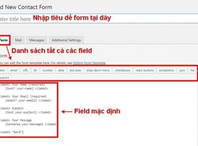 Hướng dẫn sử dụng Plugin Contact Form 7 từ A đến Z 5