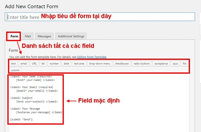 Hướng dẫn sử dụng Plugin Contact Form 7 từ A đến Z 6