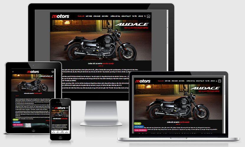Fullcode website trung tâm bảo dưỡng moto xe máy FC320 1