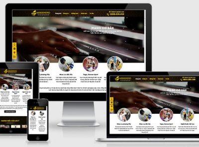 Fullcode website trung tâm dạy Piano FC322 7