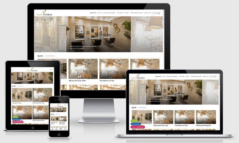 Fullcode website thiết kế thi công nội thất FC324 1