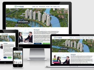 Fullcode website công ty bất động sản FC327 4