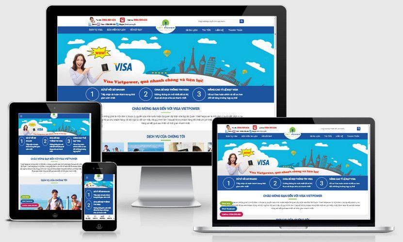 Fullcode website dịch vụ visa chuyên nghiệp FC331 1