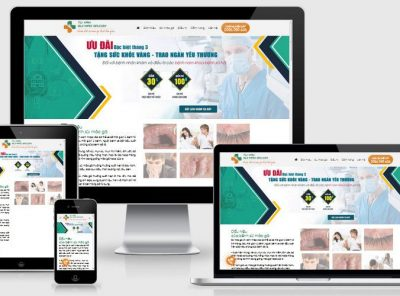 Fullcode website phòng khám nam khoa FC337 6