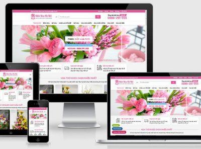 Fullcode website shop bán hoa tươi FC340 2