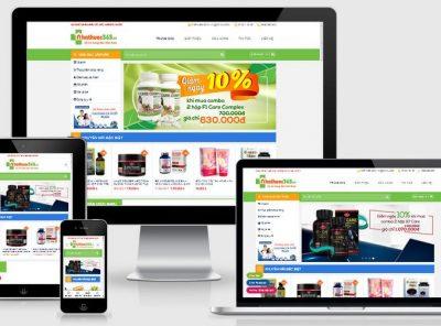 Fullcode website Nhà thuốc Online FC348 4