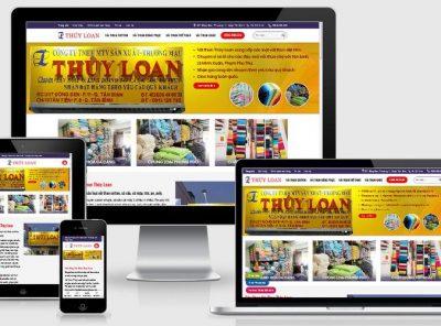Fullcode website shop bán vải FC353 1